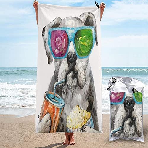 MOBEITI Toalla de baño de Microfibra Ultra Absorbente,Barro Amasado con Palomitas de Coca Cola y Gafas de Sol,de Secado rápido de Gran tamaño para Surf en la Playa,natación,SPA,Yoga