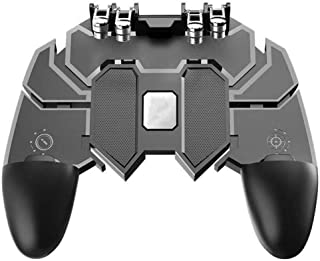 """CEUTA® Mobile Game Controller with L1R1 L2R2 Triggers, PUBG Mobile Controller 6 Fingers Operation, Joystick Remote Grip Shooting Aim Keys for 4.7-6.5"""" iPhone Android iOS Cellphone Gamepad Accessories"""
