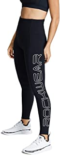 Rockwear Activewear Women's Fl Giant Logo with Pocket Tight Black 14 from Size 4-18 for Full Length Ultra High Bottoms Leg...