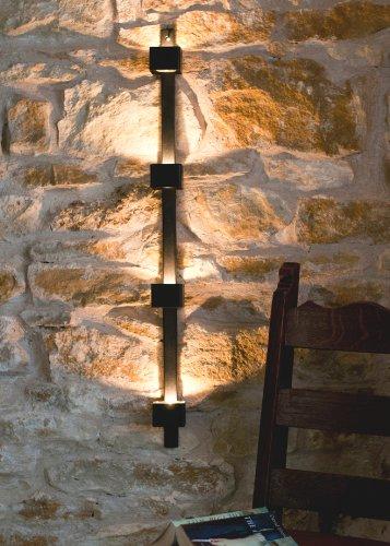 DanDiBo Wandteelichthalter aus Metall Schwarz Wand Four Wandkerzenhalter 92 cm Teelichthalter Kerzenhalter