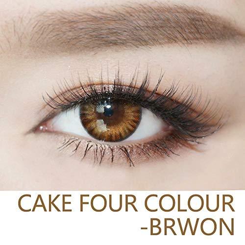 No logo Weich Farbe Kontaktlinsen Kawaii Sakura Schwarz/Braun Big Eye, for Weihnachten, 0.00 Dioptrien (Farbe : Brown)