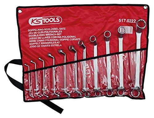 KS Tools 517.0222 CLASSIC Doppel-Ringschlüssel-Satz, gekröpft, 11-tlg. 6-32mm