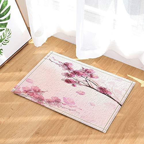 fdsdatrfet Flores de Color Rosa Alfombra de baño Bonita Molde Baño de baño Antideslizante Protección Ambiental para niños Alfombra de baño Plegable de Secado rápido