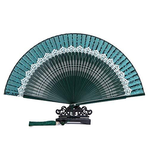 Boloi Abanico Plegable señoras Negras Plegables de la Mano de la Seda, al por Mayor Fan de bambú Personalizado de la decoración de la Vieja Boda 9