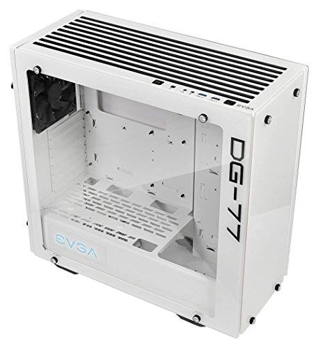 EVGA DG-77 Midi-Tower Blanco - Caja de Ordenador (Midi-Tower, PC, Acrilonitrilo butadieno estireno (ABS), Vidrio, Acero, Blanco, ATX,Micro ATX,Mini-ATX, 39 cm)