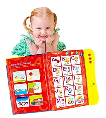ABC Sound Book for Children. English Letters & Words learning toys for 3 year old Girls & Boys, Fun Educational Toys. Activities With Numbers, Shapes, Colors & Animals, Interactive books for Toddlers. from Boxiki