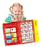 Boxiki kids Libro de Sonidos del Abecedario en Inglés Juguete Educativo. Actividades para el Aprendizaje de Letras, Palabras, Números, Formas, Colores y Animales para Niños Pequeños