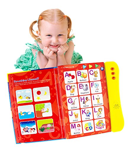 ABC Sound Book for Children. English Letters & Words learning toys for 3 year old Girls & Boys, Fun Educational Toys. Activities With Numbers, Shapes, Colors & Animals, Interactive books for Toddlers.