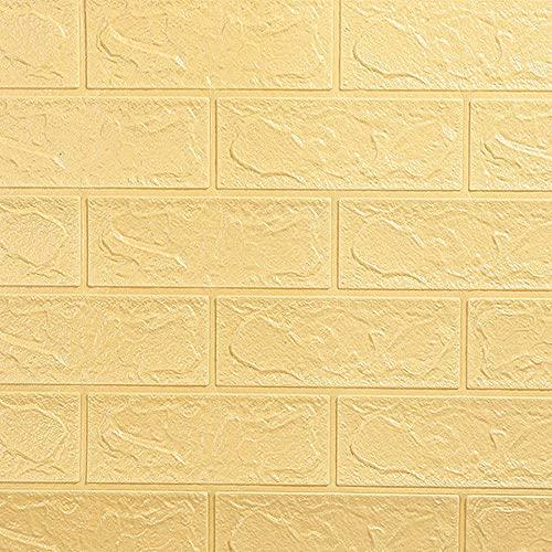 FTFTO Haushaltsgeräte 3D Brick Selbstklebende Tapete White Brick Pattern DIY PE Schaum Schallschutz er für Wohnzimmer Schlafzimmer Home Office