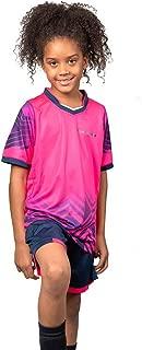PAIRFORMANCE Boys' Soccer Jerseys Sports Team Training Uniform Age 4-12 Boys-Girls Youth Shirts and Shorts Set Indoor Soccer