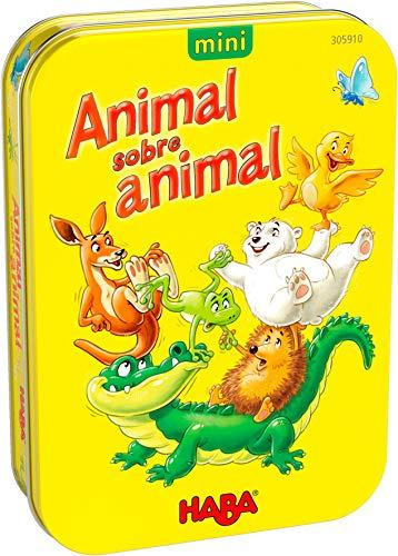 HABA 305910 - Animal sobre Animal, Version Mini, Juego de destreza a Partir de 5 años