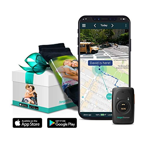 AngelSense GPS Tracker for Kids w/Autism, Special Needs & Elderly w/Dementia | 4G/LTE Nationwide Coverage | 2-Way Speakerphone, Auto-Answer | SOS Call Button | School Bus Tracking | Easy-to-Use App