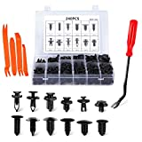 JAPower Automotive Clip 240Pcs Car Retainer Clips & 5Pcs Fastener Remover Most Popular Sizes Auto Push Pin Rivets Kit Door Trim Panel Tool Set for GM Ford Toyota Honda Chrysler