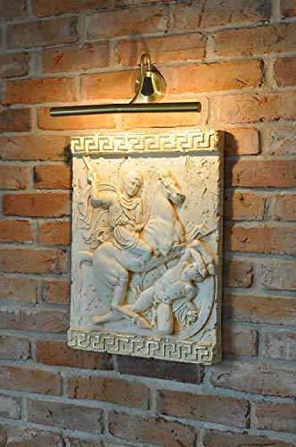 JV Moebel Alexander der Große Pferd Wandrelief Antik Relief Wand Gemälde Bild Handarbeit