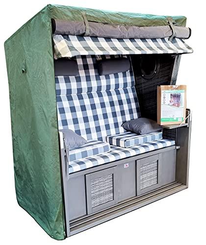 osoltus Schutzhaube für Strandkorb 2 Sitzer Breite 130cm Strandkorbhaube grün