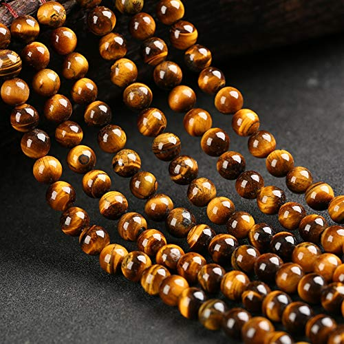 PrittUHU Agates de Moda Cuentas Redondas Strand para joyería Haciendo Perlas de Piedra Natural DIY Pulsera Collar de Perlas Sueltas (Item Diameter : 14mm 8pcs)