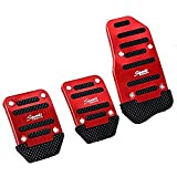 SZSS-CAR 3pcs Nonslip Car Pedal Pads Auto Sports Gas Fuel Petrol Clutch Brake Pad Cover Foot Pedals Rest Plate Kits For MT(Manual Transmission) Car