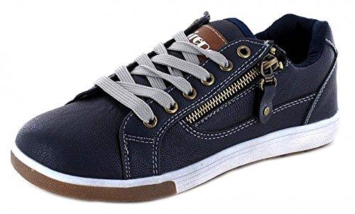 Montega Firence Damen Schnür Halbschuh Sneaker Royalblau Sportlich Flach, Schuhgröße:36