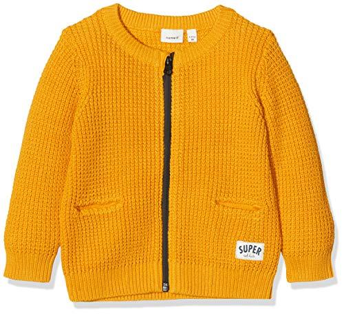 Name It Nmmommo Ls Knit Card Gilet, Jaune (Golden Orange Golden Orange), 86 Bébé garçon