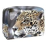 Kit de Maquillaje Neceser Leopardo Tranquilo Make Up Bolso de Cosméticos Portable Organizador Maletín para Maquillaje Maleta de Makeup Profesional 18.5x7.5x13cm