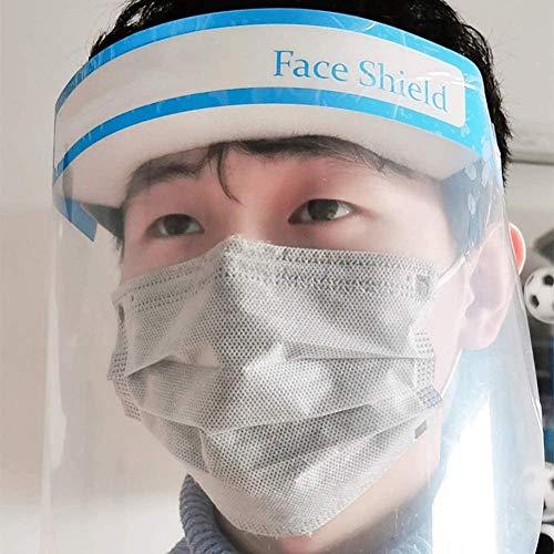 2PCS Clear Full Face Shield Visor Máscara Cobertura Facial Ojos Protección Facial Clear Oil-Splash Mascarilla a Prueba de Polvo Máscara de Pintura de Seguridad para cocinar en la Cocina