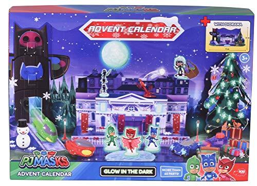 Dickie Toys 203149003 Advent Calendar PJ Masks Kinder, Adventskalender Spielzeug inkl. 3 Die-Cast-Fahrzeuge &...