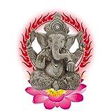 Resina Ganesh hidu Elefante Estatua Elefante Buda Figura Dios del éxito Ornamento Decorativo para Coche de Oficina en casa,c