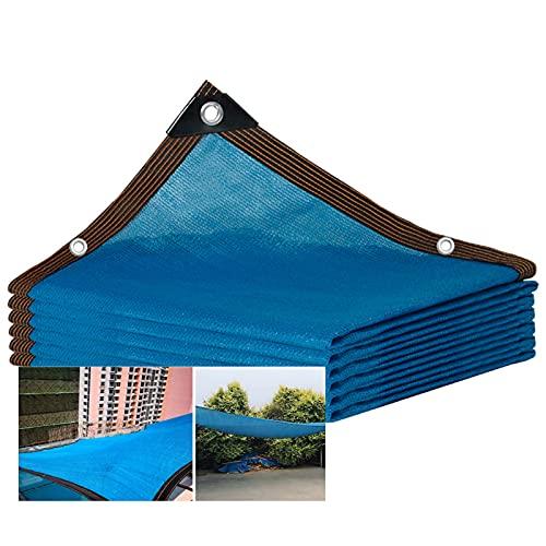 Telas para Toldos Blue Malla Sombreadora 85% UV, Gran Jardín Al Aire Libre, Invernadero, Sombra, Vela, Piscina, Césped, Obra De Construcción, Toldo (Size : 4X6M)
