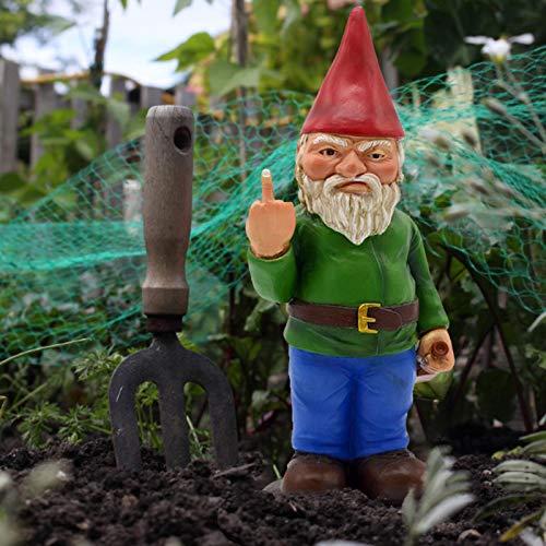 Earlyad 15CM Gartenzwerg GEH Weg Vogel Gnomette Garten Gnom Statue Lustiger Rasenzwerg und Gartendekoration cool
