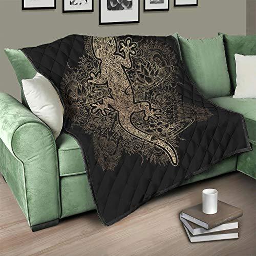 Flowerhome Gecko - Colcha para sofá o cama, color blanco, 230 x 280 cm