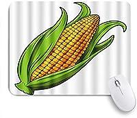 NINEHASA 可愛いマウスパッド 白い背景の上の漫画ゴールデンスイートコーン ノンスリップゴムバッキングコンピューターマウスパッドノートブックマウスマット