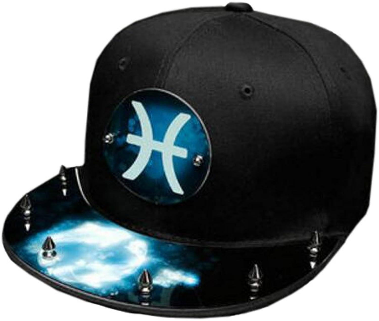 Fashion Constellation Outdoors Unisex Cap Adjustable Hip Hop Cap Birthday Gift NightLuminous Cap,J