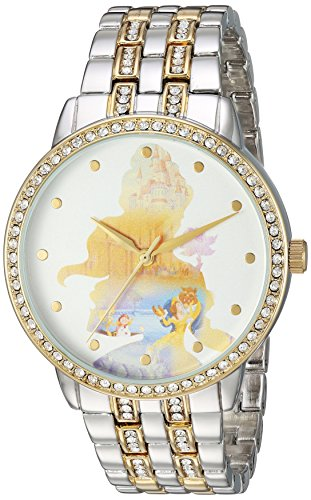 DISNEY Women's Belle Analog-Quartz Watch with Alloy Strap, Two Tone, 20 (Model: WDS000069)