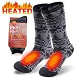 Men's Slipper Socks, Sunew Fashion Comfort Stretch Insulated Heated Boot Skiing Camping Thermal Socks Big...