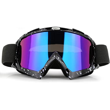 ZDATT Motorcycle Goggles - Glasses Dirt Bike ATV Motocross Anti-UV Adjustable Riding Offroad Protective Combat Tactical Military Goggles for Men Women Youth Adult