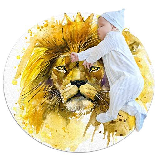Biaoya Alfombra de cocina lavable de entrada alfombra de escritorio alfombra de baño acento alfombra,León Rey León ilustración