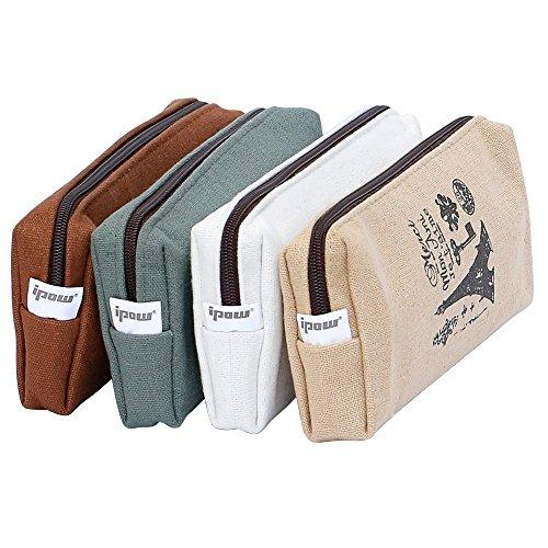 pas cher un bon ipow4pcs toile école couverture grand format sac de transport sac cosmétique…