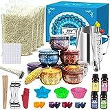 IVSUN Kit de creación de velas, arte y manualidades, accesorios para hacer velas aromáticas, hacer...
