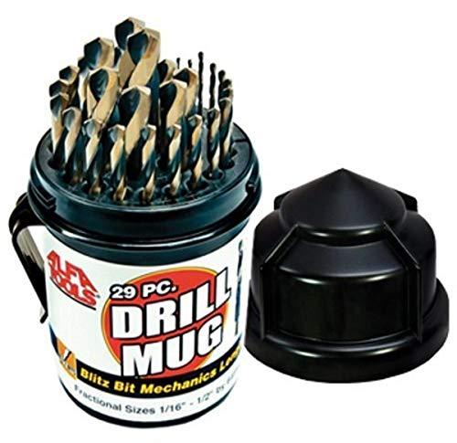 Alfa Tools BBML74290DM Blitz Bit Mechanic's Length Drill Mug, 29 Piece