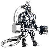 Starker Mann Hantel Keychain Männer Fitness Bodybuilding Schlüsselanhänger für Auto-Wallet Keys...