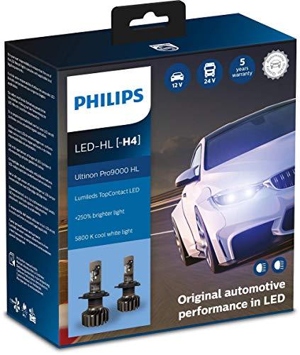 Philips Ultinon Pro9000 LED faros delanteros (H4), paquete doble