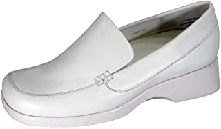 0f024891e26e 24 Hour Comfort Thelma Women Wide Width Classic Stylish Durable Cushioned  Leather Slip On Shoes
