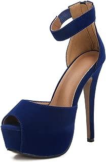 Womens Platform Peep Toe Stiletto High Heel Ankle Strap Dress Sandals