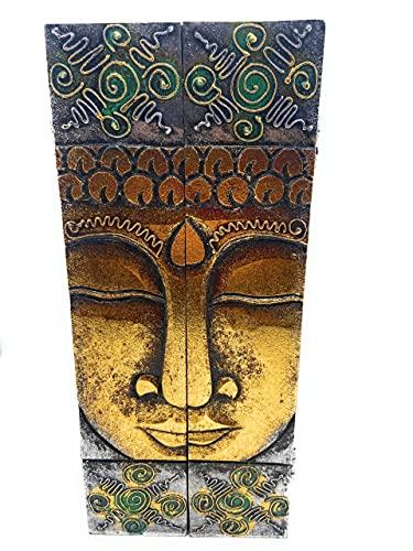 Cuelga Llaves para Pared de Madera. Decoracion Buda. Armario Organizador Llavero Idea de Regalo Casa Hogar Artesania Decorativo