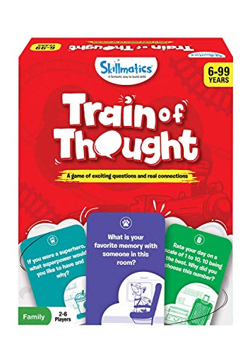 Skillmatics Card Game : Train of Thought | Gifts, Travel & Family Party Game for Ages 6 and Up