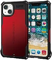 エレコム iPhone 13 2眼 ハイブリッドケース ZEROSHOCK レッド PM-A21BZERORD