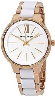 Anne Klein White Dial Rose Gold-Tone Ladies Watch 1412WTRG