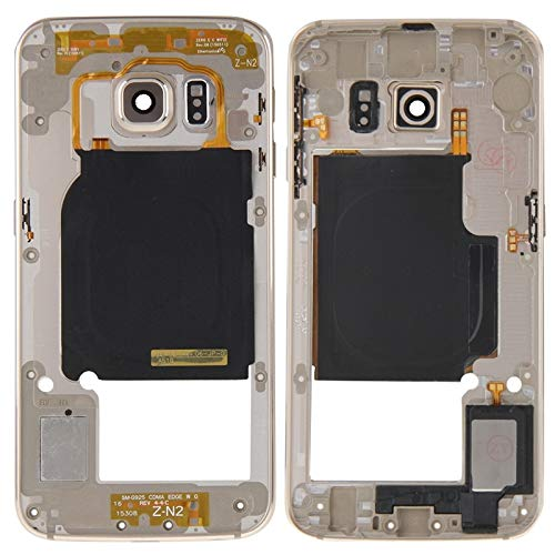 Best Replacement Parts Frame Bezel Plate Case for Samsung Galaxy Back Plate Housing Camera Lens Panel with Side Keys and Speaker Ringer Buzzer for Galaxy S6 Edge / G925(Grey) ( Color : Gold )