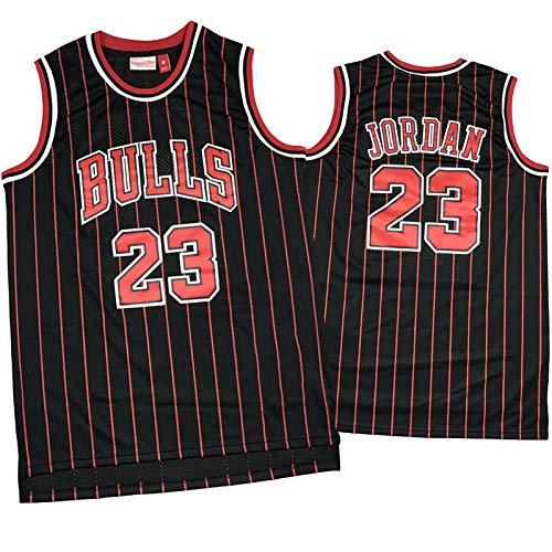 LYDG Jordán 23# Camiseta de Baloncesto, Camiseta Transpirable de Malla, Uniforme de Baloncesto de Toro, Chaleco sin Mangas Bordado (S-XXL) Negro y Rojo 23#Black Red-XL