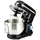 VonShef Robot Pâtissier Multifonctions 800-1260W - Bol de 3,5 L avec dispositif...